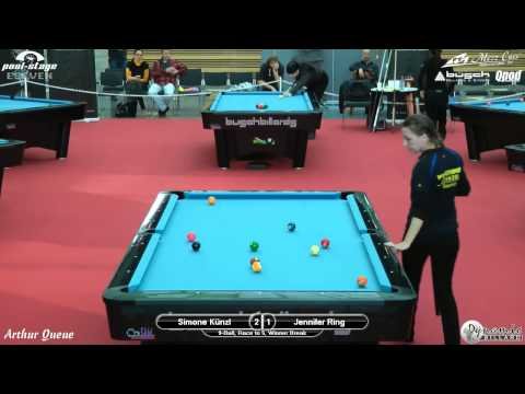 Mezz Cues German Open Ladies 2012, Simone Künzl vs Jennifer Ring, Pool Billiards, 9-Ball