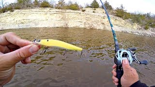 Fishing MUDDY Water for FAT Spring Bass!!