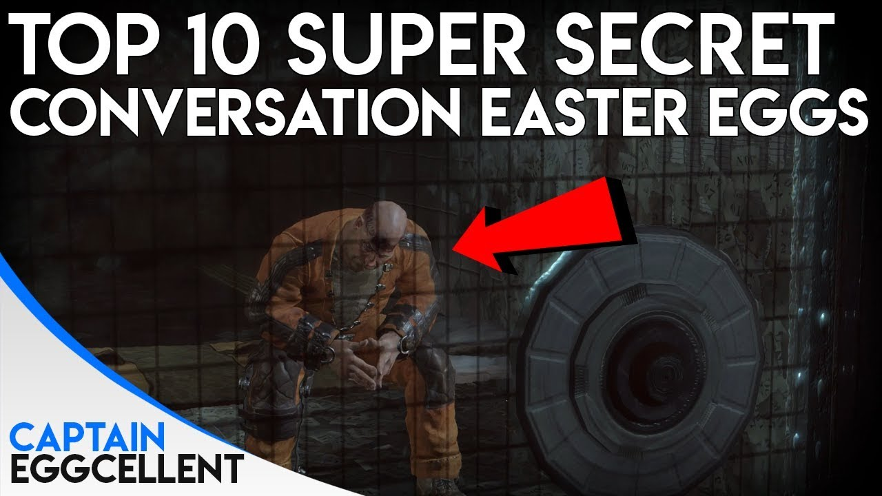 Top 10 SUPER Secret Conversation Easter Eggs In Video Games