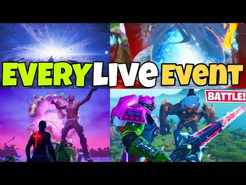 EVERY Fortnite LIVE EVENT! (Season 1 - Season 12) Replay😱