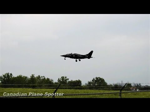 FAST Touchdown! Alpha Jets Formation Flyover, 360° Turn, and Landing at Ottawa Int'l Airport