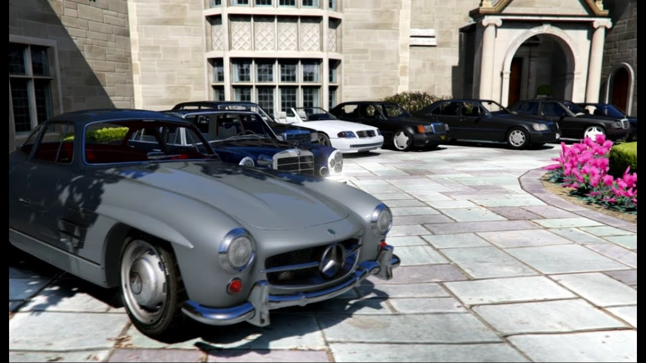 Gta V Mercedes Bmw Classic Cars Collection In Gta Youtube