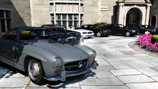 gta v   mercedes bmw classic cars collection in gta 5