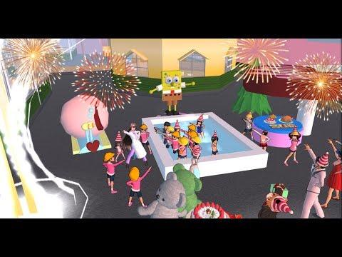 Birthday Party (SpongeBob Theme ) On Sakura School Simulator
