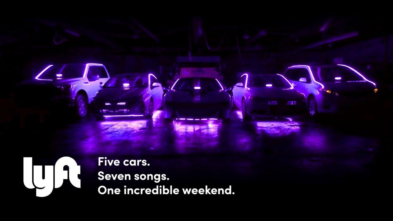 Lyft  Five Cars Seven Songs Car HonkHornBeep Acapella