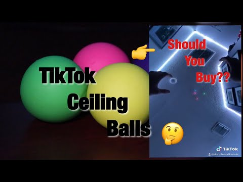TikTok Sticky Ceiling Balls (DON'T BUY THESE???)