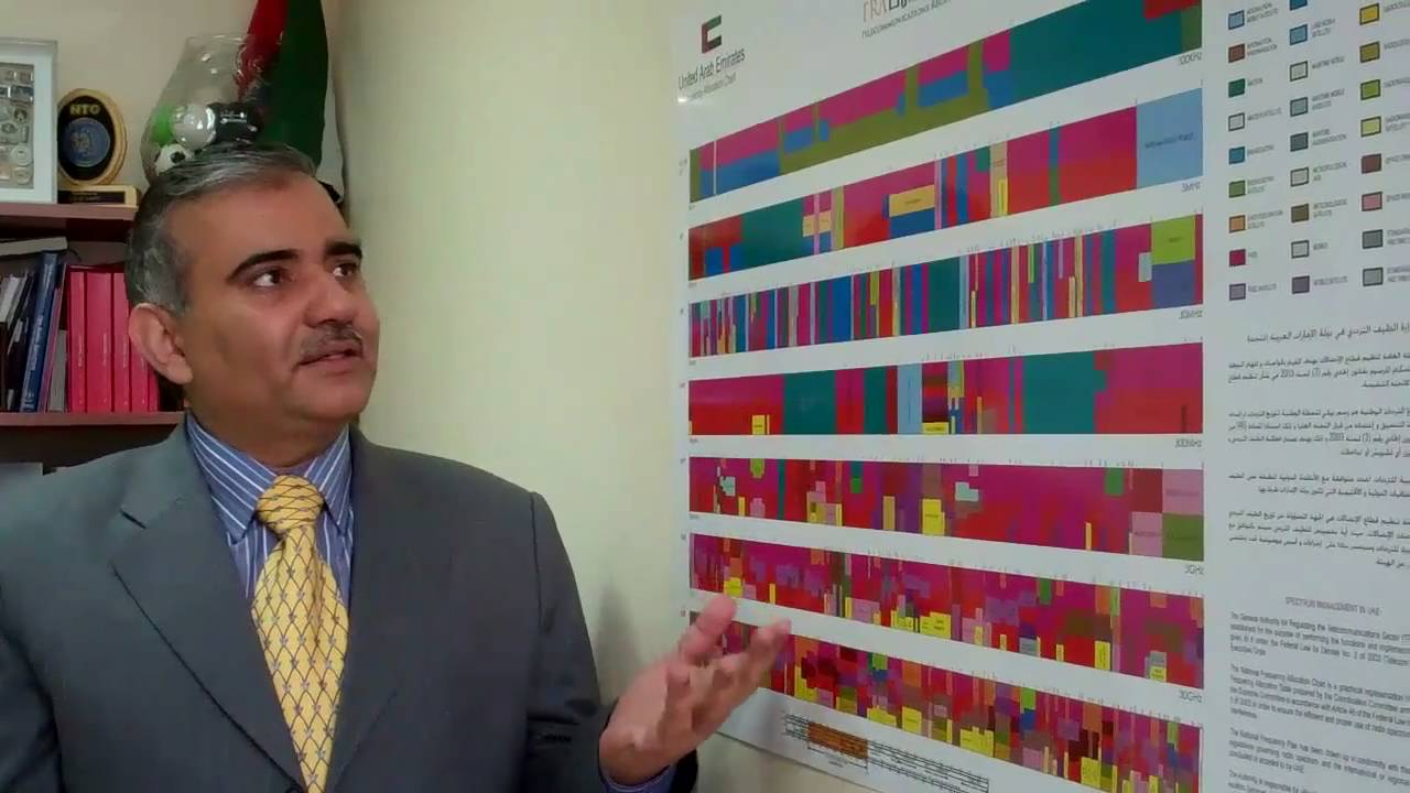 Hasan Sharif describing the National Frequency Allocation Chart