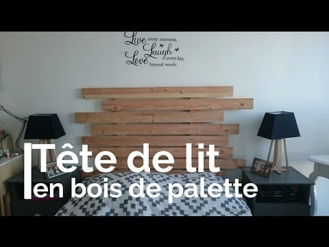 r aliser une t te de lit en bois de palette youtube. Black Bedroom Furniture Sets. Home Design Ideas