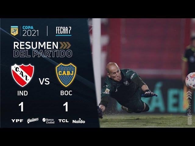 Copa De La Liga   Fecha 7   resumen de Independiente - Boca