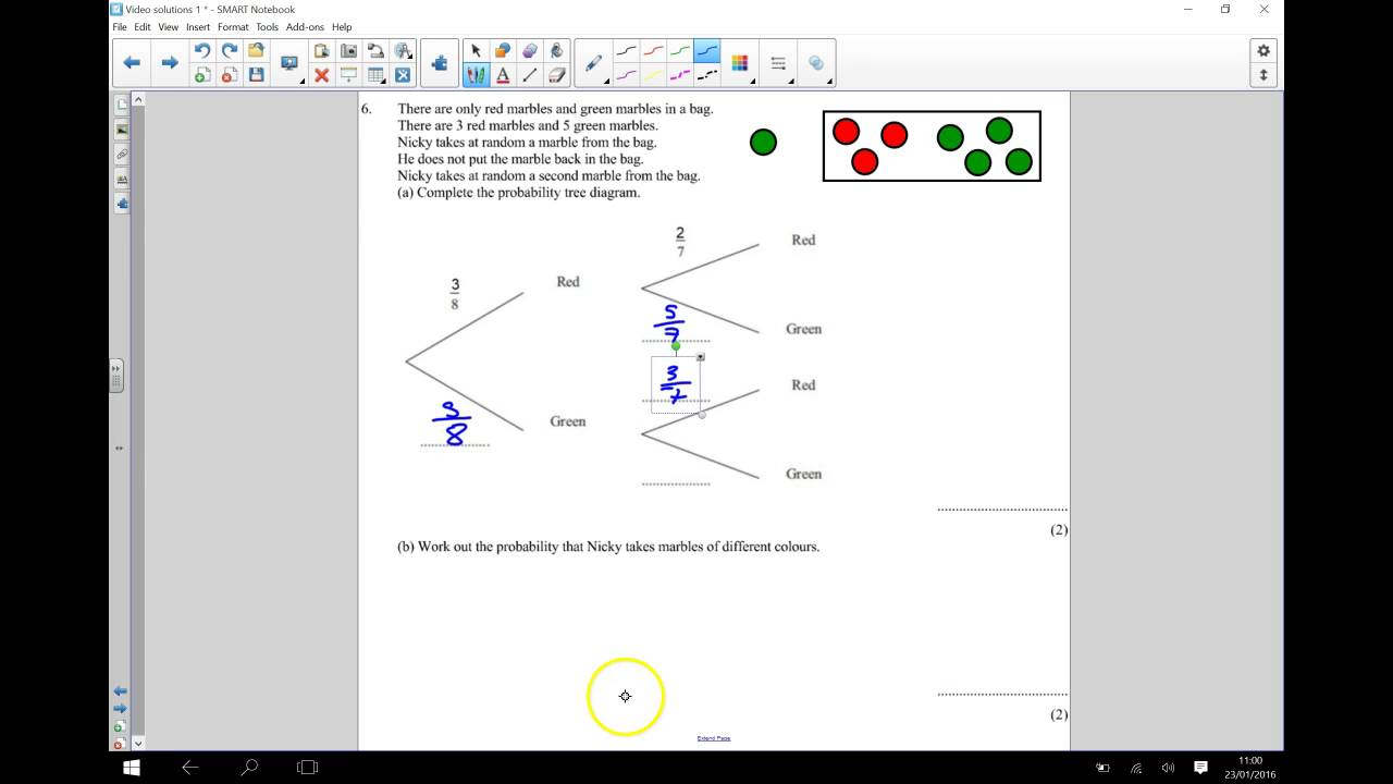 probability tree diagrams conditional gcse maths youtube