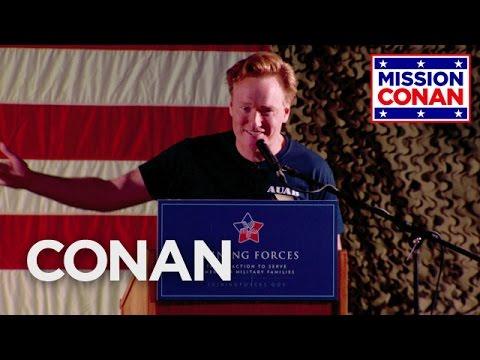 Conan Entertains The Troops At Al Udeid Air Base  - CONAN on TBS