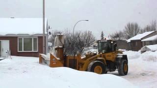 Komatsu snowblower in Vimont, Laval, Québec.