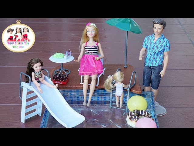 ?????????????????????? Barbie Swimming Pool   ????????? ???????? Wow Sister Toy