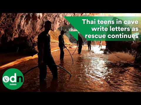 Thai teens in cave write letters as rescue continues