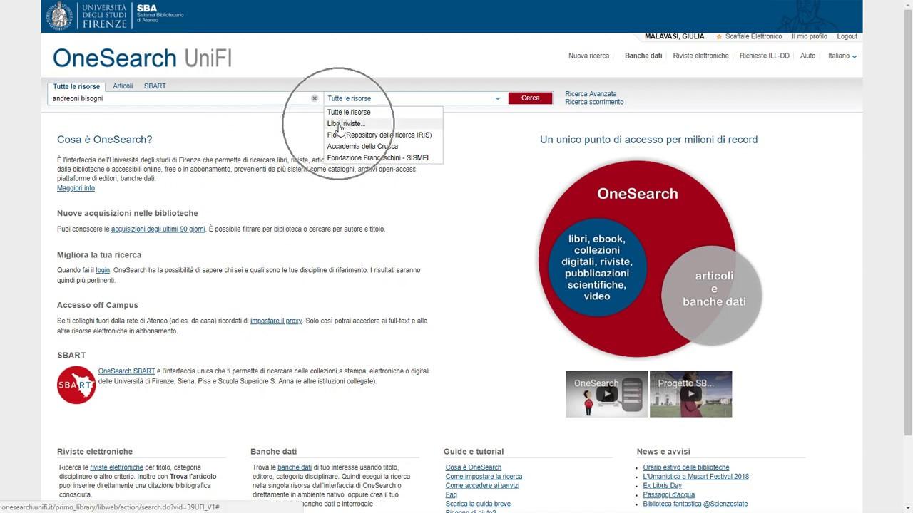 OPAC Catalogo SBN