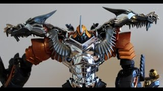 Transformers 4 AGE OF EXTINCTION Movie Autobot Grimlock Voyager & Leader Class Toys Full Review