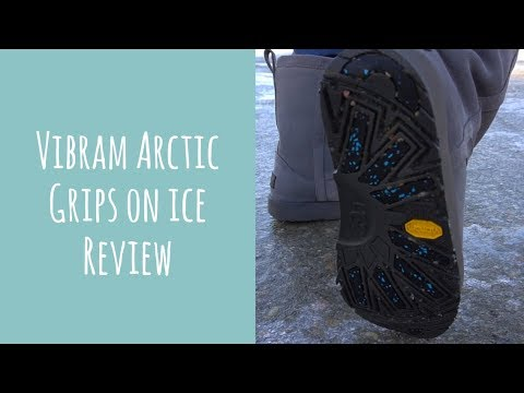 Comparing Vibram Arctic Grip shoes to regular winter boots and slip-on ice cleats