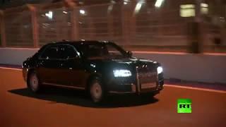 السيسي يركب سيارة بوتين الجديدة على حلبة فورمولا – 1