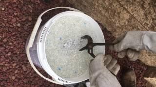Molten aluminum into Water Beads