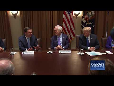 Exchange between Sen. Murphy & President Trump on gun legislation (C-SPAN)