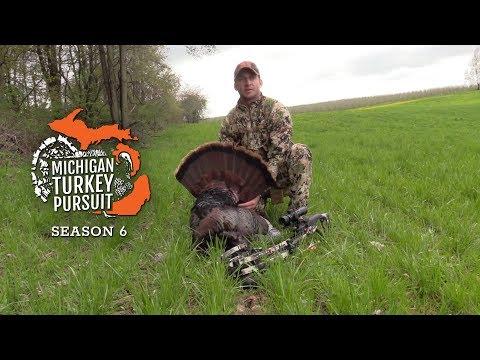 Michigan Turkey Hunting 60 Yard Turkey Kill With The Crossbow MTP S6.E10
