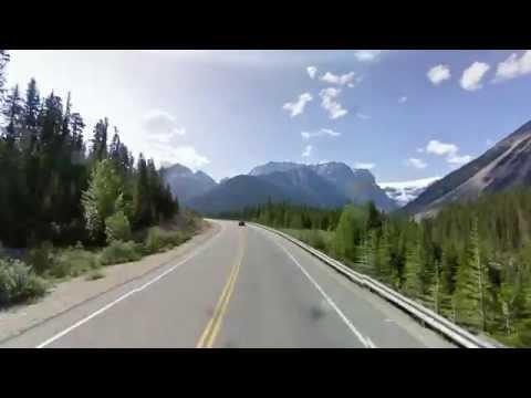 Google street view timelapse. Icefields Parkway (Alberta, Canada)