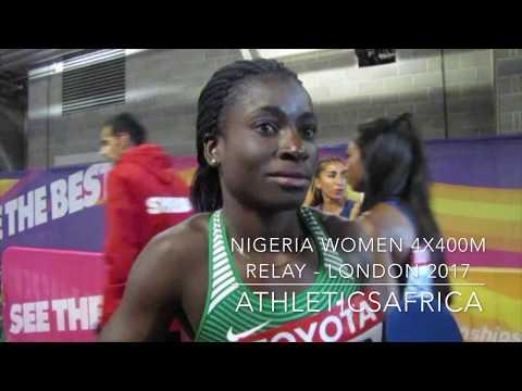 Patience Okon GEORGE, Abike EGBENIYI, Glory NATHANIEL & Yinka AJAYI - Nigeria 4x400m London 2017