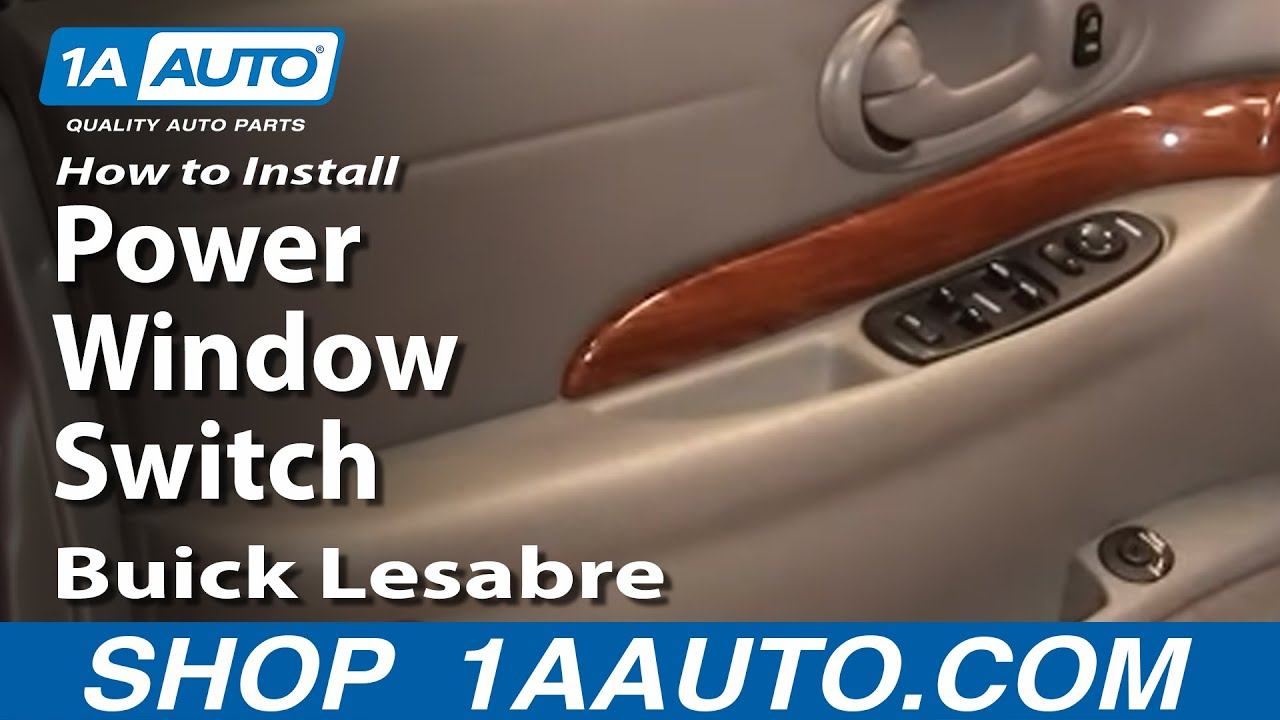 install repair replace power window switch buick