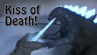 Godzilla 2014 Final kill remake (Stop motion)
