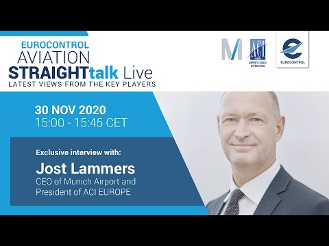 Aviation StraightTalk Live with Munich Airport CEO, Jost Lammers