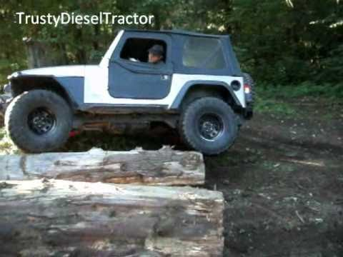 2002 Jeep TJ 25 4 Cylinder Denied Crawling Logs  YouTube