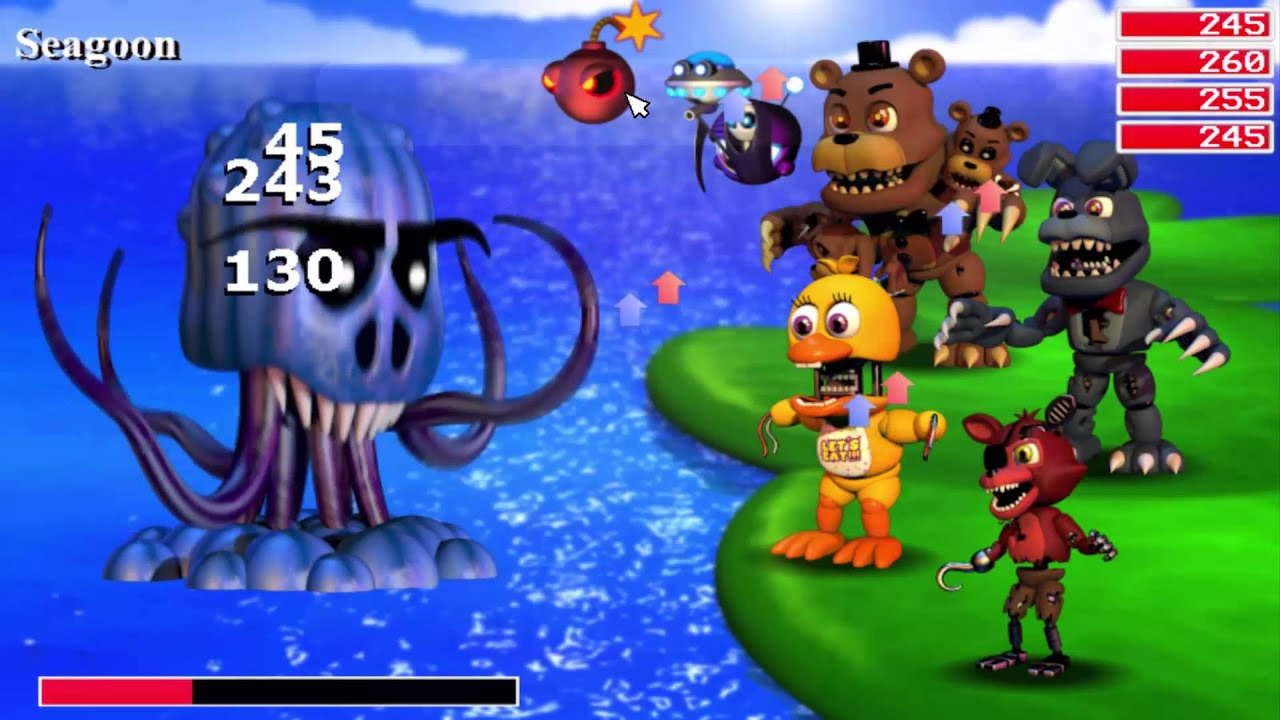 fnaf world demo gameplay
