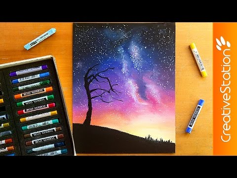 Night sky - Speed Drawing | CreativeStation