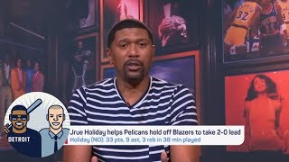Jalen Rose details why the Pelicans are up 2-0 on the Blazers | Jalen & Jacoby | ESPN