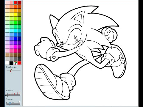 Sonic The Hedgehog Coloring Pages For Kids - Sonic The Hedgehog ...