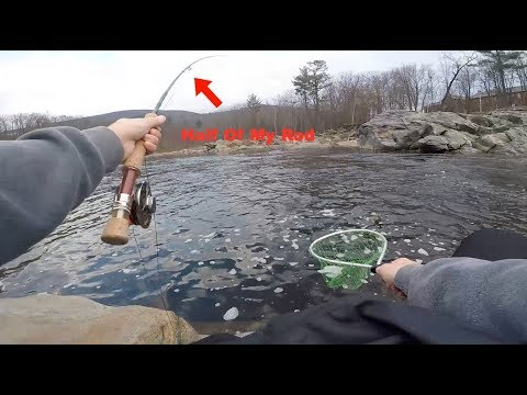 Catching TONS Of Trout On Half Of A Fly Rod // Deerfield River Fly Fishing