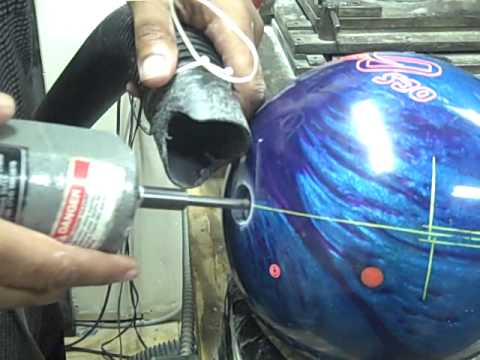 Keith Perkins' Final Touch:  Beveling the Bowling Ball hole