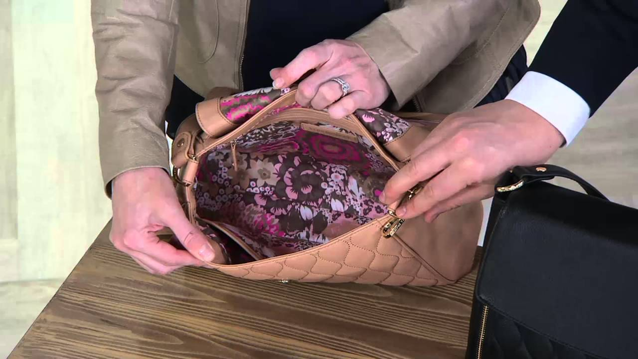 Vera Bradley Quilted Leather Convertible Bag Cara On Qvc