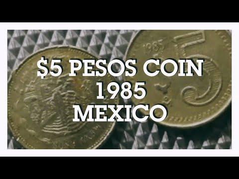$5 Pesos Coin 1985, Mexico