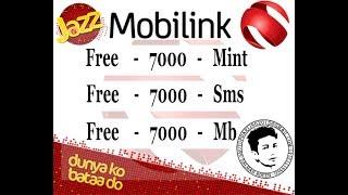 Jazz free 7000 mint sms mb 7 Days