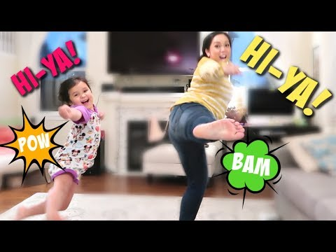 LEARNING MARTIAL ARTS FROM MY 5 YEAR OLD! - itsjudyslife