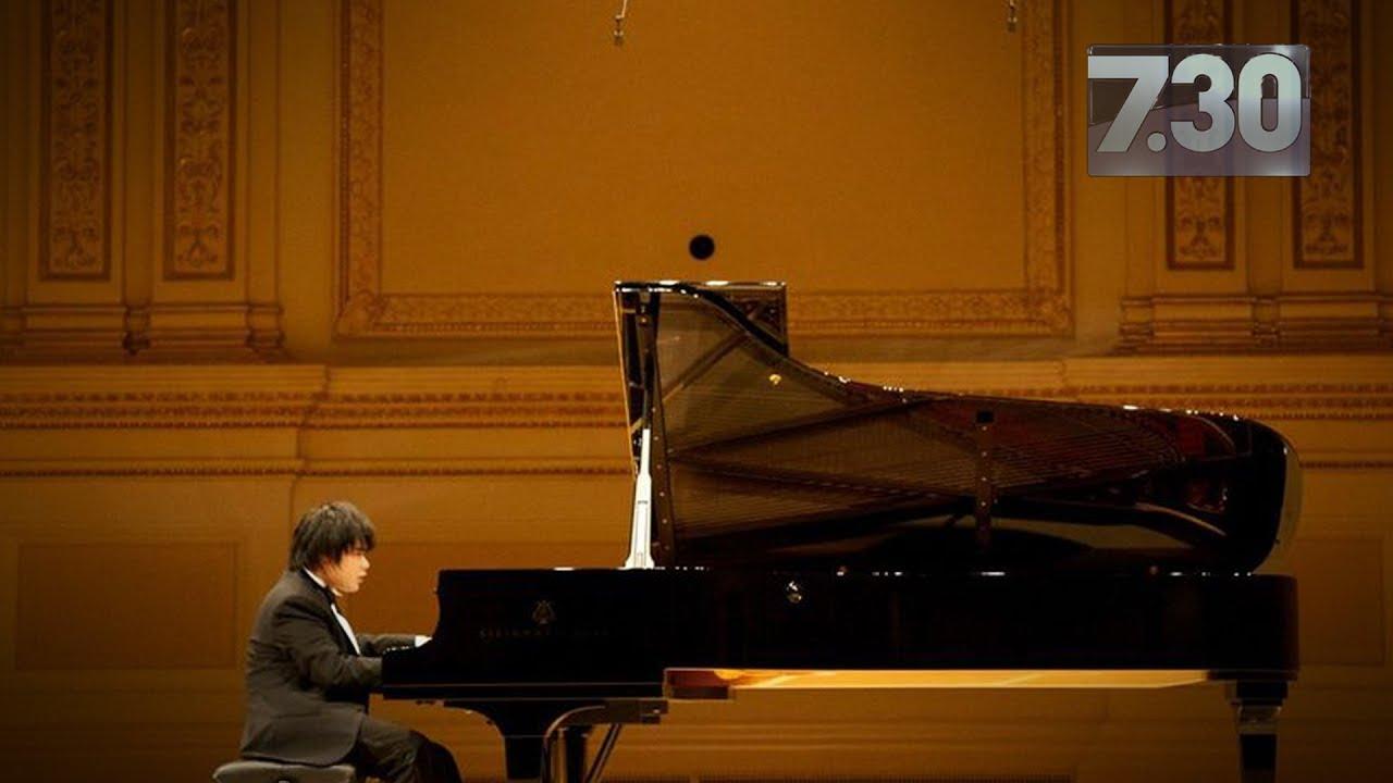 Blind asian girl pianist