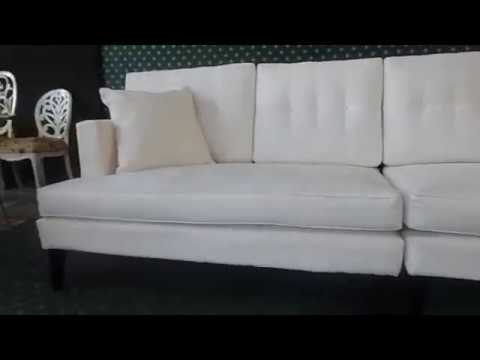 amusing plain white living room | mid century modern sofa with white plain fabric upholstery ...