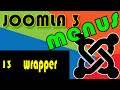 Joomla 3 Tutorials: The wrapper Menu Item
