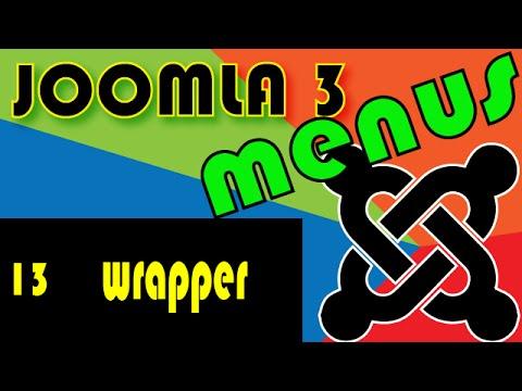 Joomla 3 Tutorials: The Wrapper Menu Item