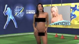 Венесуэльская телеведущая разделась в прямом эфире
