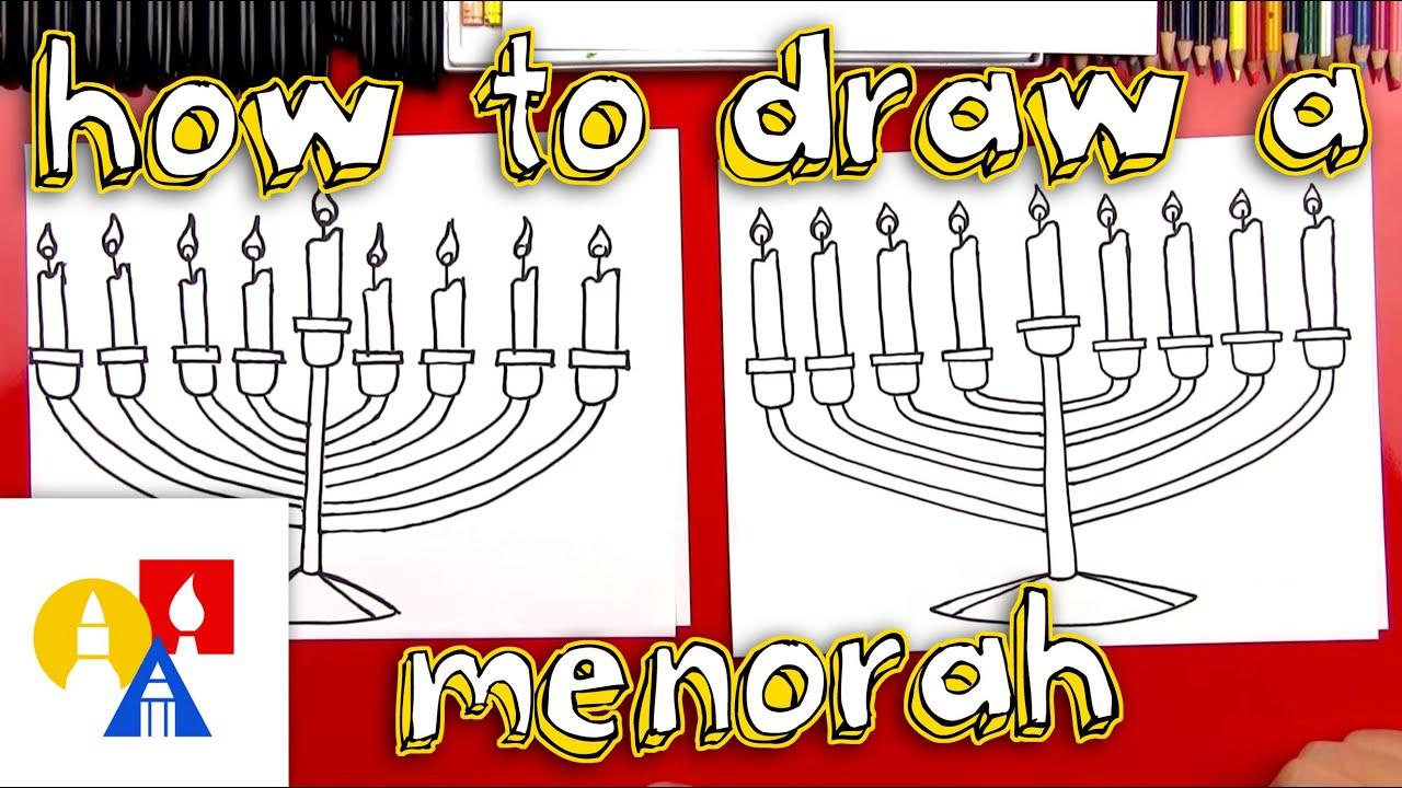 how to draw a menorah youtube