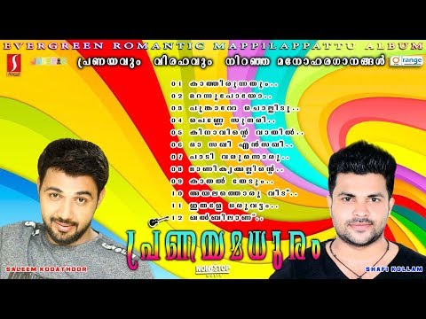 Pranayamaduram |Saleem Kodathoor| Shafi| Rehna Latest Selected romantic mappilapattu album 2017