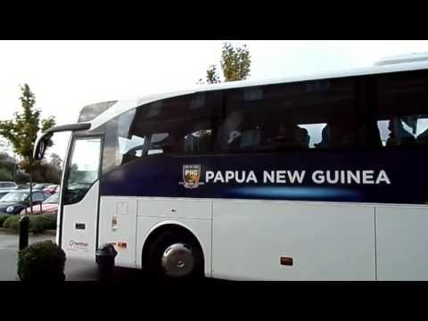 Papua New Guinea arrive for 2013 World Cup