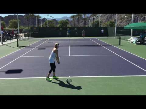 Eugenie Bouchard / Svetlana Kuznetzova (60 fps) 2017 Indian Wells Practice 3/7/17 BNP Paribas Open